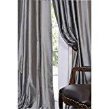"1kidandaheadache's Faux Silk Panel Drape Curtain Window Treatmeant 8 Grommets 55""x108"" in Silver"