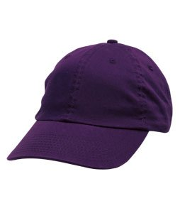 Bayside BA3630-Purple-One Size American Made Washed Chino Twill Cap44; Purple - One Size