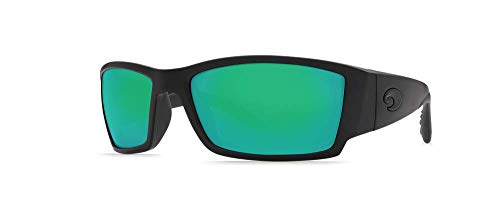 Costa Del Mar Sunglasses - Corbina- Glass / Frame: Black Lens: Polarized Green Mirror Wave 580 ()