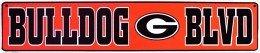 (UGA Bulldog Blvd Metal Street Sign (24
