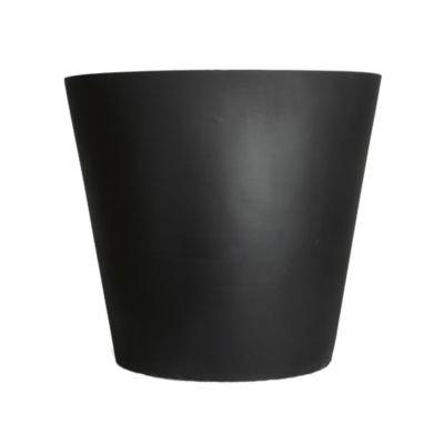 Stonefiber Pot rund L schwarz (ø 60 cm, h 49 cm)