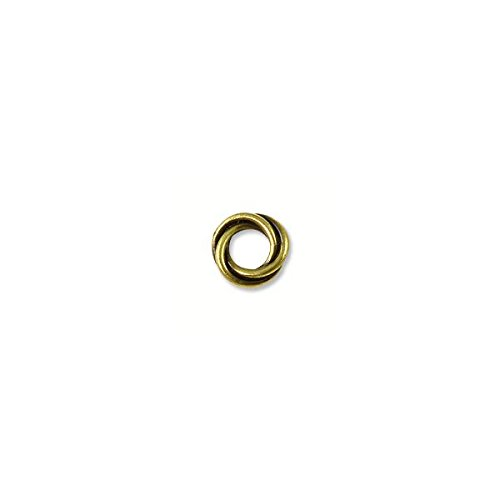 Bead Twisted Spacer 8mm Pewter Antique Brass Plated (1-Pc)