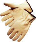 Premium Cowhide Driver Work Gloves, Sold by Dozen - Large