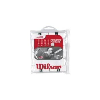 Wilson Pro Overgrip Perforated 12 Pack - White - Tennis - Badminton - Squash 801a0ba4204fa
