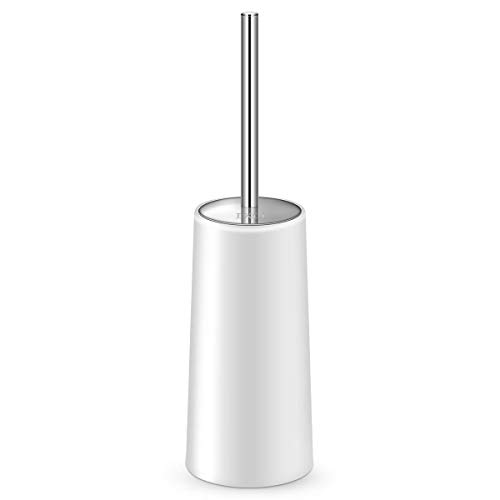 IXO Toilet Brush and Holder,【2020 Upgraded Classic】 Toilet Brush with 304 Stainless Steel Longer Handle, Enlarged Bottom Toilet Bowl Cleaner Brush Set for Bathroom Toilet