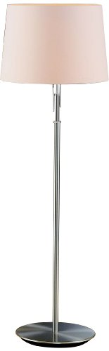 Holtkoetter Floor Lamp with Illuminator, Satin Nickel with Satin White Shade ()