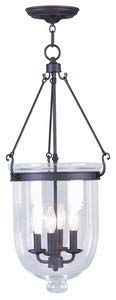 (Livex Lighting 5065-07 Jefferson - Four Light Chain Hanging Lantern, Bronze Finish with Clear Glass)
