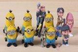 e Me 2 Minions Action Figure Doll Toys 10pcs/set Yellow, Free ()