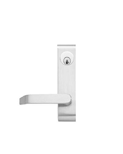 CR Laurence Jackson 8500LV02628 Aluminum Finish Locking Flat Lever Outside Trim
