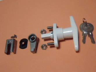 T-Handle Shutter Lock Kit, Accordion Hurricane