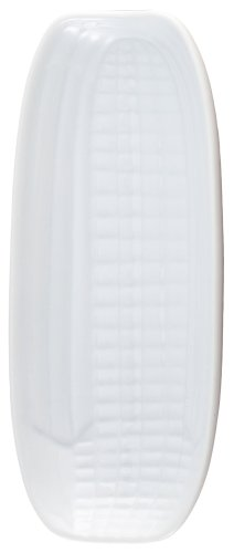 HIC Corn Dish, Fine White Porcelain, 9.5-Inches x 4.25-Inches