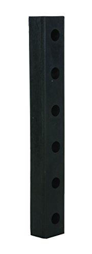 Vestil DBE-30-1 Rubber Hardened Molded Bumper, Rectangular, Vertical Mount, 30
