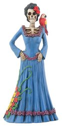 Day of The Dead Dod Blue Lady -