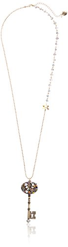 Crystal Accent Gold Tone Key - Betsey Johnson
