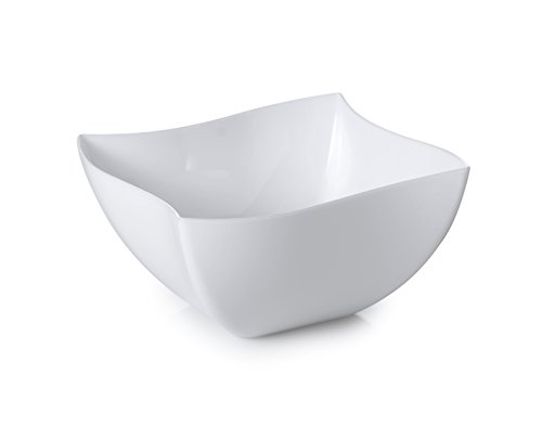 - Fineline Settings Wavetrends White China-Like Square 8 oz. Serving Bowl 80 Pieces