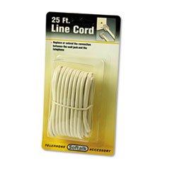 (* Telephone Extension Cord, Plug/Plug, 25 ft., Ivory)