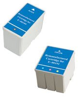 Amsahr 0189 Remanufactured Replacement Epson Ink Cartridges for Printers/Faxes with 1 Black and 1 Color Cartridges Ink