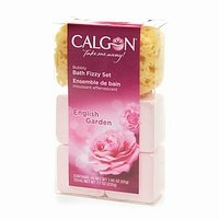 Calgon Bubbly Bath Fizzy Set, English Garden 7.7 oz (220 ml) (220 Gardens)