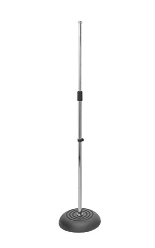On-Stage MS7201CH Round Base Microphone Stand, Chrome