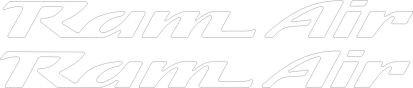 Pontiac Ram Air Hood Decals for Firebird , Trans Am, WS6, Formula (White)