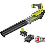 ONE+ 100 MPH 280 CFM Variable-Speed 18-Volt Lithium-Ion Cordless Jet Fan Leaf Blower - 4Ah Battery and Charger Included
