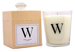 Archipelago Monograms Soy Candle W - Wisteria & Hyacinth (Discontinued - Slightly Yellow)