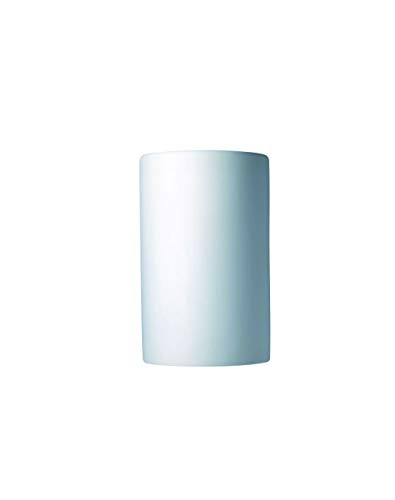 Justice Design Fan - Justice Design Group Lighting CER-1260-BIS Wall Sconce with Ceramic Bisque Shades, White