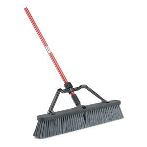 Libman 825 Rough-Surface Heavy-Duty Push Broom with Resin Brackets, 24'' by Libman