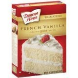 Sweet Vanilla Cake (Duncan Hines Moist Deluxe French Vanilla Cake Mix 18.25 Oz (Pack of 2))