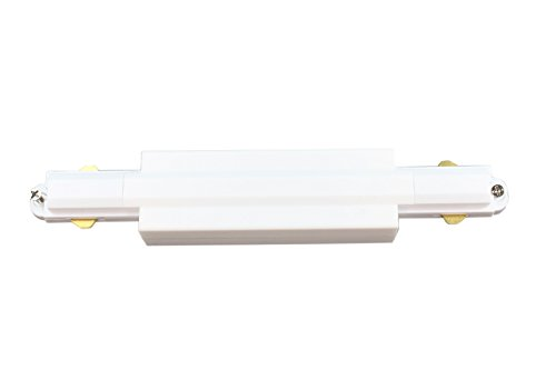 J.LUMI RAC6003W Track Rail Straight Connector, for Halo 3-Wire Single Circuit Track System,White, Pack of 1, Compatible with Track Rails RAL1002W
