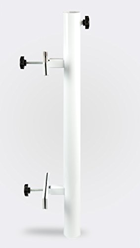 Patio Umbrella Holder | Outdoor Umbrella Base and Mount | Attaches to Railing Maximizing Patio Space and Shade (White)