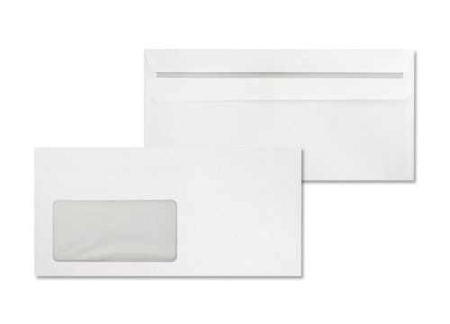Deutsche Post Briefumschläge 100 Umschläge DIN lang weiß selbstklebend mit Fenster
