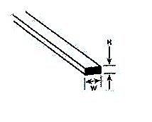 Strip Rect - Plastruct MS-304 Rect Strip,.030x.040 (10) PLS90732 by Plastruct