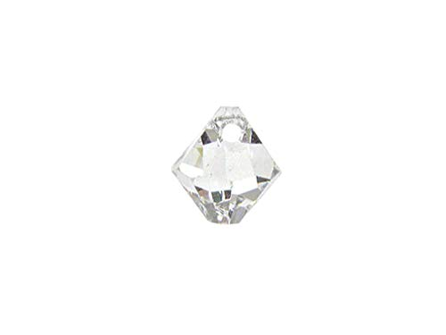 Swarovski Crystal, 6328 Top Drilled Bicone Beads 6mm, Crystal, Wholesale Packs | Pack of 72 ()