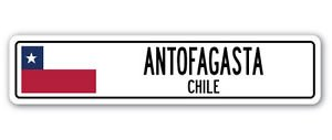 ANTOFAGASTA, CHILE Street Sign Sticker Decal Wall Window Door Chilean flag city country road wall 8.25 x 2.0