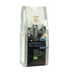 GEPA Italienischer Bio Espresso - koffeinfrei - gemahlen 1 Karton (6 x 250 g) Fair Trade Kaffee