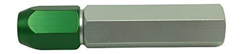 Meyer Gage 4WSE Single Ended Green Cap Gage Handle, 0.282 to 0.406 Range, Aluminum