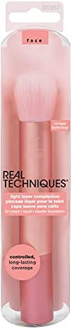 Real Techniques Pincel de maquiagem de camada leve para base, líquido, creme ou pó