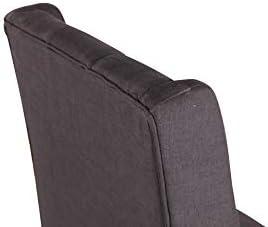Yellow Soho - Chaise CONTEMPORAINE EMY Tissu Couleur des Pieds - Naturel, Couleur Principale - Noir, LOT - x1