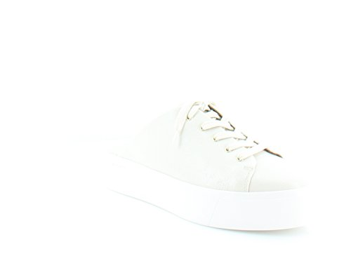 Calvin Klein Womens Jaleh Low Top Lace up Fashion Sneakers, White/Soft, Size 7.5