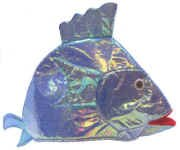 Iridescent White Fish Party Hat - http://coolthings.us