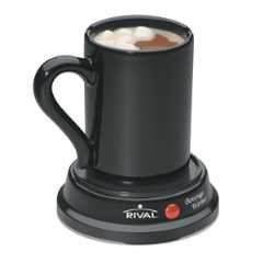 Rival BW8M-BL Black Beverage Warmer with 8 oz mug