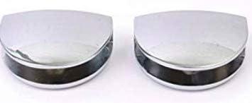 salle de bain 400 mm x 100 mm Lot de 2 /étag/ères en verre avec coins incurv/és de 6 mm d/épaisseur en verre tremp/é transparent avec grands supports de finition chrom/ée cuisine chambre /à coucher