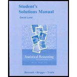Student Solutions Manual for Statistical Reasoning for Everyday Life, Lund, David and Bennett, Jeffrey O., 0321287061