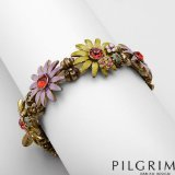 """CleverEve Designer Series 24.0mm Crystal Enamel Bracelet 7.0"""" By Pilgrim Skanderborg, Denmark"""