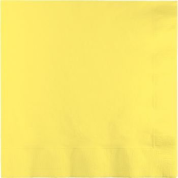 Mimosa (Light Yellow) Dinner Napkins (3-Ply)(25 Pack)