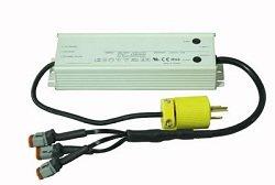 Larson Electronics 0321OXATFD4 Waterproof Transformer Converts 120-277V AC To 12 Volts Dc - 16 Amps - 3 Male Deutsch Connectors
