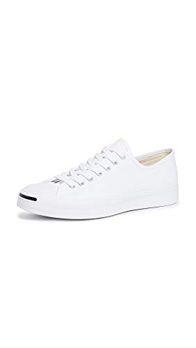 Converse Men's Jack Purcell Gold Standard Canvas Oxfords, White, 9 M US (Jack Sneakers)