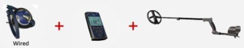 XP DEUS Metal Detector with FX-02 Wired Backphone Heaphones + Remote + 9
