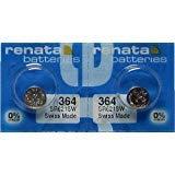 2 Renata 364 SR621SW Silver Oxide Zero Mercury Electronic Batteries